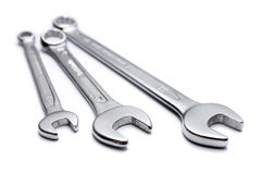 Chrome Wrench Royalty Free Stock Photo