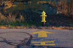 Chrome Yellow Fire Hydrant Royalty Free Stock Photography