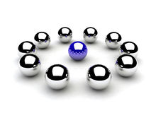 Chromeballs Stock Images