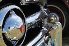 Chromed american car grill and bumper Stock Photography