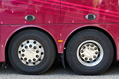 Chromed Bus Wheels Royalty Free Stock Photography