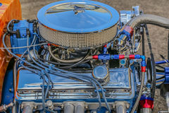 Chromed and customized American V-8 Motor Royalty Free Stock Photo