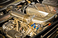 Chromed engine Stock Photography