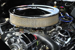 Chromed engine Royalty Free Stock Photography