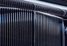 Chromed grille Stock Photo