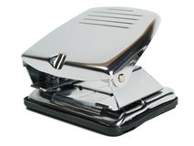 Chromed hole puncher Royalty Free Stock Image