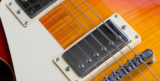 Chromed humbucker Royalty Free Stock Photos