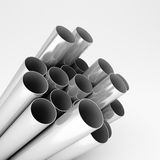 Chromed metal pipes Royalty Free Stock Image