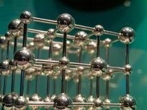 Chrome Crystal Lattice Structure. A Chromed metal representation of a crystal lattice structure royalty free stock photo