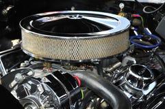 chromed motor royaltyfri fotografi