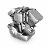 Chromed motorcycle engine Royalty Free Stock Photography