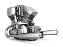 Chromed motorcycle engine Royalty Free Stock Photo