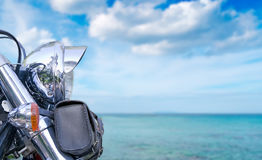 Bike and sea Stock Photography