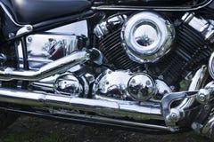 chromed motormotorcykel Fotografering för Bildbyråer