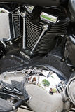 Chromed powerful engine motorcycle motor Stock Photo