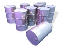 Chromed steel barrels Stock Images