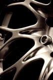 Chromed wheel hub Stock Image