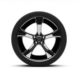 Chromed wheel with tires Stock Image