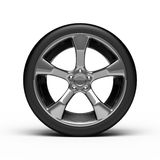 Chromed wheel with tires Stock Photos