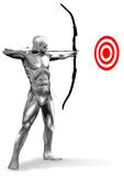 Chromeman Archer Royalty Free Stock Images