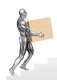 chromeman pudełkowaty przewożenie Obraz Royalty Free