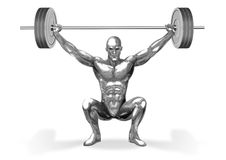 Chromeman_Weight Lifting Stock Photos