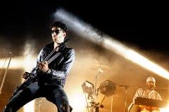 Chromeo (electro boj duet) wykonuje przy Heineken Primavera dźwięka 2014 festiwalem zdjęcia stock