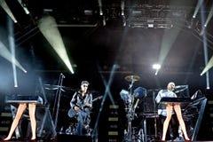 Chromeo (Kanadyjski boj duet) wykonuje przy Heineken Primavera dźwiękiem 2014 obraz royalty free