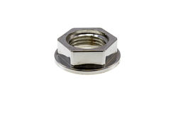 The chromeplated sanitary nut Stock Photography