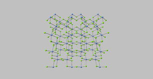 Chromic chloride molecular structure isolated. Chromium 3 chloride or chromic chloride describes any of several compounds of with the formula CrCl3H2O. 3d Royalty Free Stock Photography