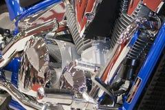 Chromieren Sie Motor lizenzfreies stockbild