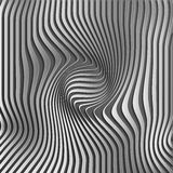 Chromium abstract silver stripe pattern background.Optical illusion, twisted lines, abstract curves background. The Royalty Free Stock Photos