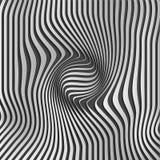 Chromium abstrakta srebra lampasa wzoru tło Okulistyczny złudzenie, przekręcać linie, abstrakt wygina się tło _ royalty ilustracja