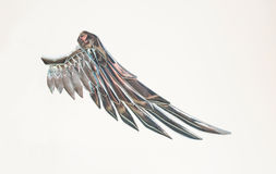 Chromium angel wing.Creative part of fairy Royalty Free Stock Photography