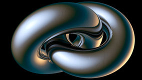 Chromium double toroid Stock Images