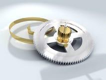 Chromium gear wheel. High technology stock illustration