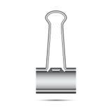 Chromium-geplateerde bindmiddelenklemmen royalty-vrije illustratie