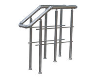 Chromium metal fence with handrail Stock Photography