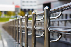 Chromium metal railings Stock Images