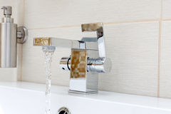 Chromium-plate tap Stock Photography