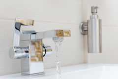 Chromium-plate tap Royalty Free Stock Photo