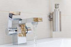 Chromium-plate tap Royalty Free Stock Photo