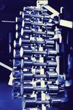 Chromium-plated dumbbells Stock Image