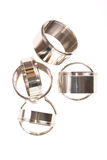 Chromium-plated Ringe lizenzfreie stockfotos