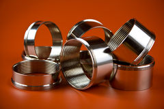 Chromium-plated rings Royalty Free Stock Images