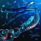 chromosome ADN ilustração stock