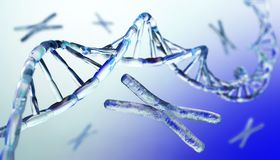 Chromosome, DNA. Scientific background, beautiful blur stock photography