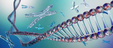 Chromosome, DNA. Scientific background, beautiful blur royalty free stock photos