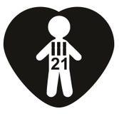 Chromosomy 21, trisomiczność 21, puszka syndrom Pojęcie ilustracja wektor