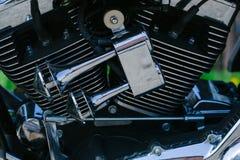 chromowany parowozowy motocykl s Obrazy Stock